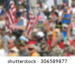 background blur of crowd at... | Shutterstock . vector #306589877