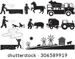 farm and agriculture icon set | Shutterstock .eps vector #306589919