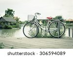 bicycle with landscape the calm ... | Shutterstock . vector #306594089