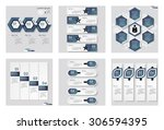 collection of 6 blue color... | Shutterstock .eps vector #306594395