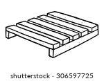 wooden pallet   cartoon vector... | Shutterstock .eps vector #306597725