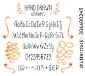 vector alphabet. hand drawn... | Shutterstock .eps vector #306600245