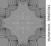 circular   pattern of delicate... | Shutterstock .eps vector #306601061