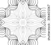 circular   pattern of delicate... | Shutterstock .eps vector #306601067