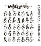 set of hand drawn ampersands....   Shutterstock .eps vector #306603935