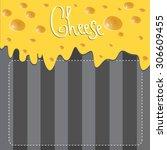vector cheese brochure on dark... | Shutterstock .eps vector #306609455