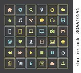 set of colorful icons  flat... | Shutterstock .eps vector #306610595