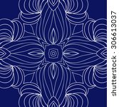 circular   pattern of delicate... | Shutterstock . vector #306613037