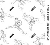 sports seamless pattern vector. ... | Shutterstock .eps vector #306614579