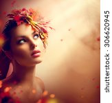 Autumn Woman Fashion Art...