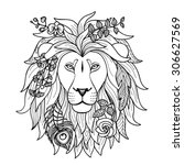 Lion. Vector Illustration For...