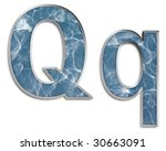 capital   lowercase q in blue   ... | Shutterstock . vector #30663091