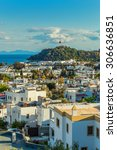 touristic place bodrum town in... | Shutterstock . vector #306636851