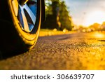 sunny day in a city  headlights ... | Shutterstock . vector #306639707