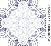 circular   pattern of delicate... | Shutterstock .eps vector #306644084