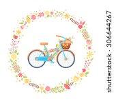 Colorful Flat Elegant Bicycle...