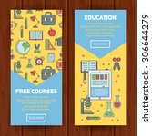 school banners templates with...   Shutterstock .eps vector #306644279