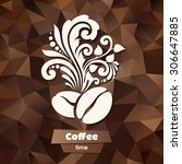 ornate coffee symbol on... | Shutterstock .eps vector #306647885