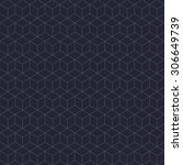 vector geometric cubes pattern | Shutterstock .eps vector #306649739
