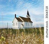 Small Rural Church In Field...