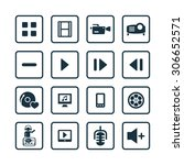 dj icons universal set for web... | Shutterstock . vector #306652571