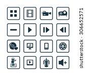 dj icons universal set for web... | Shutterstock . vector #306652571