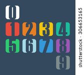 numbers set. design vector... | Shutterstock .eps vector #306653165