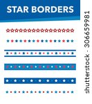 various star borders with red ... | Shutterstock .eps vector #306659981