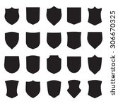 shield icons set. different... | Shutterstock . vector #306670325