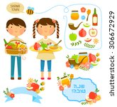 cartoon kids and items related... | Shutterstock .eps vector #306672929