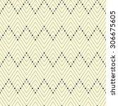 seamless vector geometric... | Shutterstock .eps vector #306675605