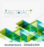 abstract geometric background.... | Shutterstock . vector #306681404