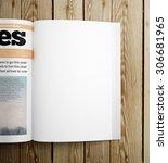 clean magazine  | Shutterstock . vector #306681965