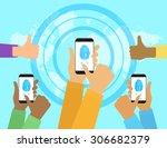 illustration of identification... | Shutterstock .eps vector #306682379