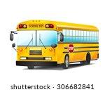 school bus on white. vector... | Shutterstock .eps vector #306682841