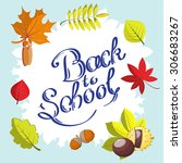 calligraphic back to school... | Shutterstock . vector #306683267