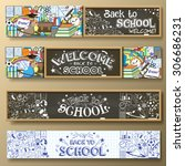 back to school horizontal... | Shutterstock .eps vector #306686231