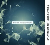 abstract polygonal space blue... | Shutterstock .eps vector #306689561