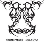 tribal ornamental tattoo | Shutterstock .eps vector #3066992