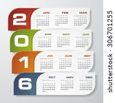 simple design calendar 2016... | Shutterstock .eps vector #306701255