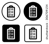 checklist   vector icon | Shutterstock .eps vector #306709154