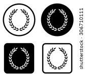 laurel wreath   vector icon | Shutterstock .eps vector #306710111