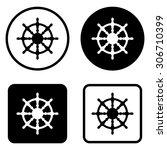 ship steering wheel    vector... | Shutterstock .eps vector #306710399