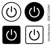 on off switch    vector icon | Shutterstock .eps vector #306711044