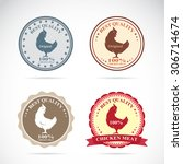 set of vector an chicken label... | Shutterstock .eps vector #306714674