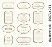 vector of vintage frame set on... | Shutterstock .eps vector #306716081