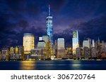 Manhattan Skyline At Dusk  New...