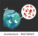 vector. illustration. sicked... | Shutterstock .eps vector #306728465