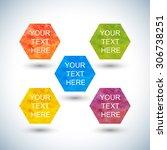set of hexagon watercolor ...   Shutterstock .eps vector #306738251