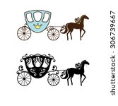 beautiful vintage carriage... | Shutterstock .eps vector #306739667